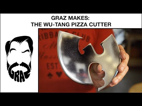 Graz Makes: The Wu-Tang Pizza Cutter (out of Jimmy Diresta's old table saw blade)