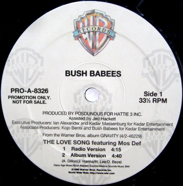 SONG FOR SUNDAY #73: Da Bush Babees - The Love Song (Ft. Mos Def)